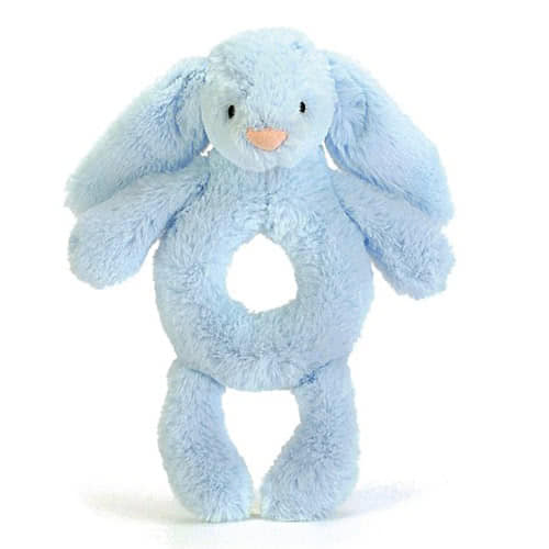 Little Jellycat Bashful Blue Bunny Grabber