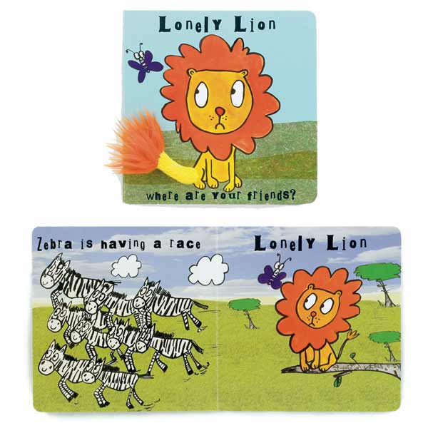 Little Jellycat Lonely Lion Board Book