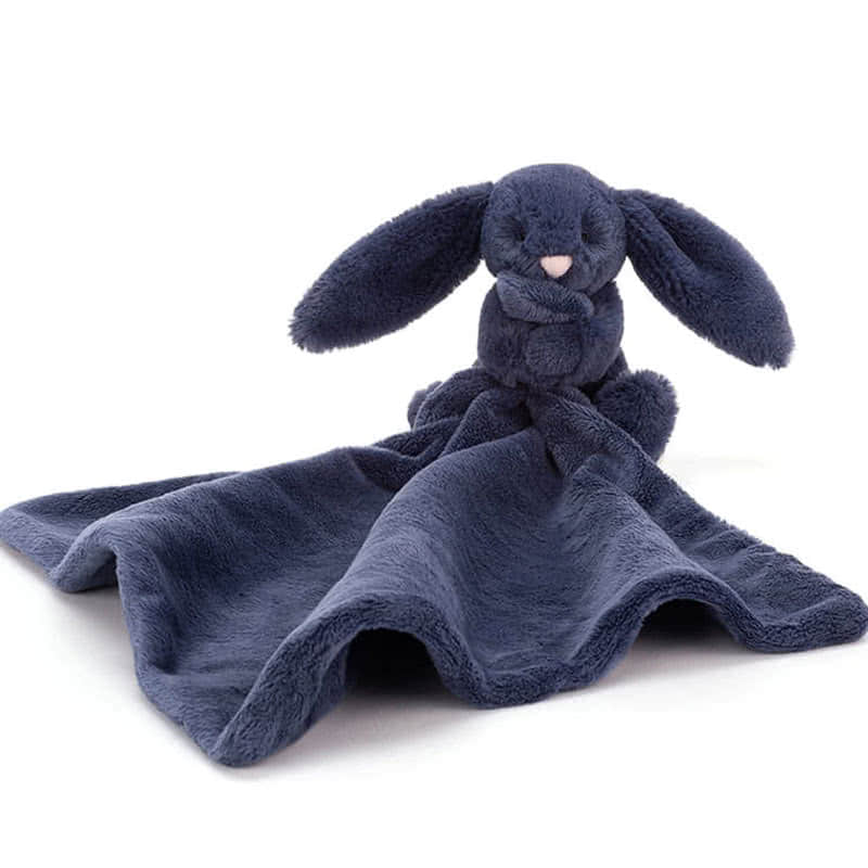 Little Jellycat Bashful Navy Bunny Soother
