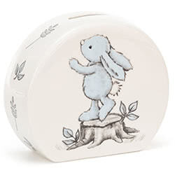 Bashful Blue Bunny Money Box