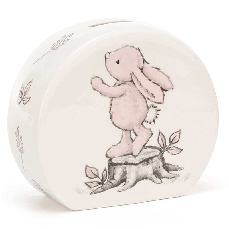 JellycatBashful Pink Bunny Money Box