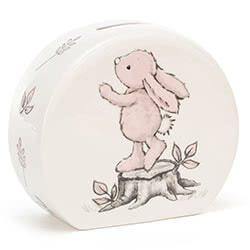 Bashful Pink Bunny Money Box