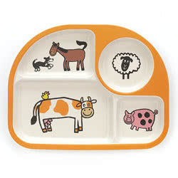 Farm Tails Bamboo Divided Plate