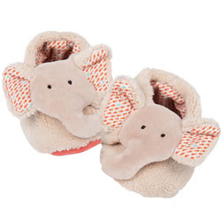 Les Papoum Elephant Baby Slippers