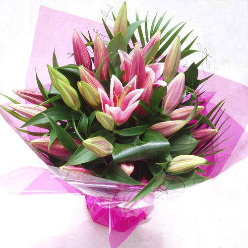 National Flower DeliveryPink Stargazer Lily