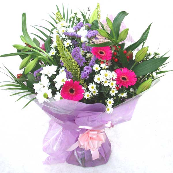Flower Delivery Hint of Lilac Hand Tied