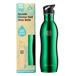 Green Stainless Steel Drinks Bottle