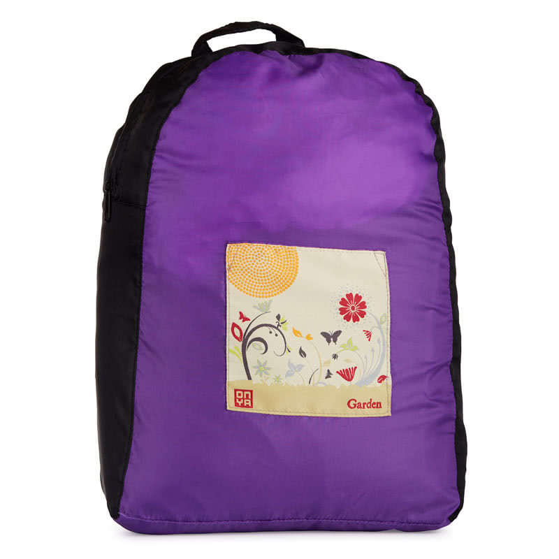 Onya Black Purple Garden Backpack