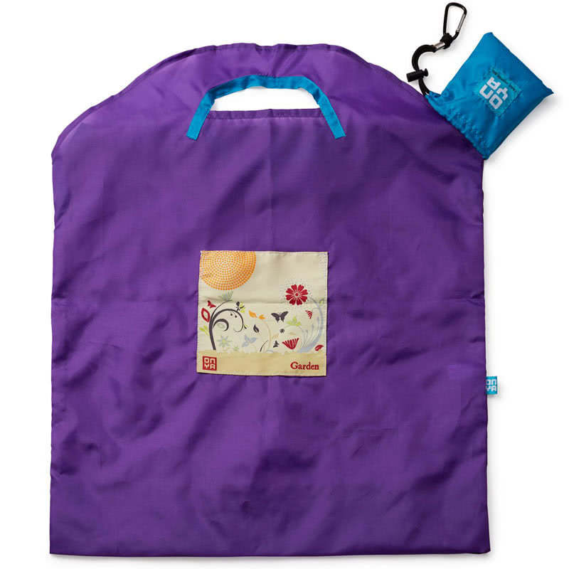 Onya Purple Garden Large Shopping Bag