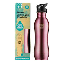 Stainless Steel Drinks Bottle Pink
