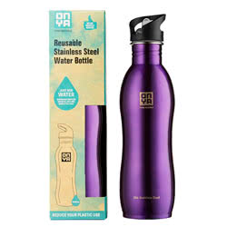 Stainless Steel Drinks Bottle Purple