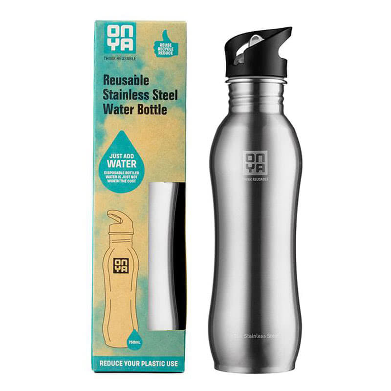Onya Stainless Steel Drinks Bottle Silver