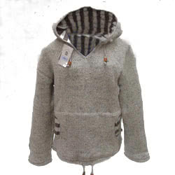Oatmeal Hooded Sweater