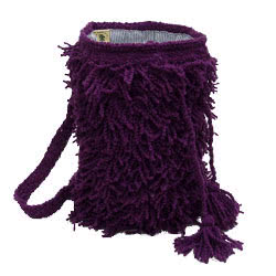 Shaggy Purple Duffel Bag