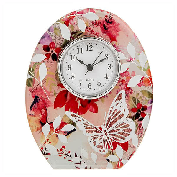 Photo Frame Blush Floral Clock