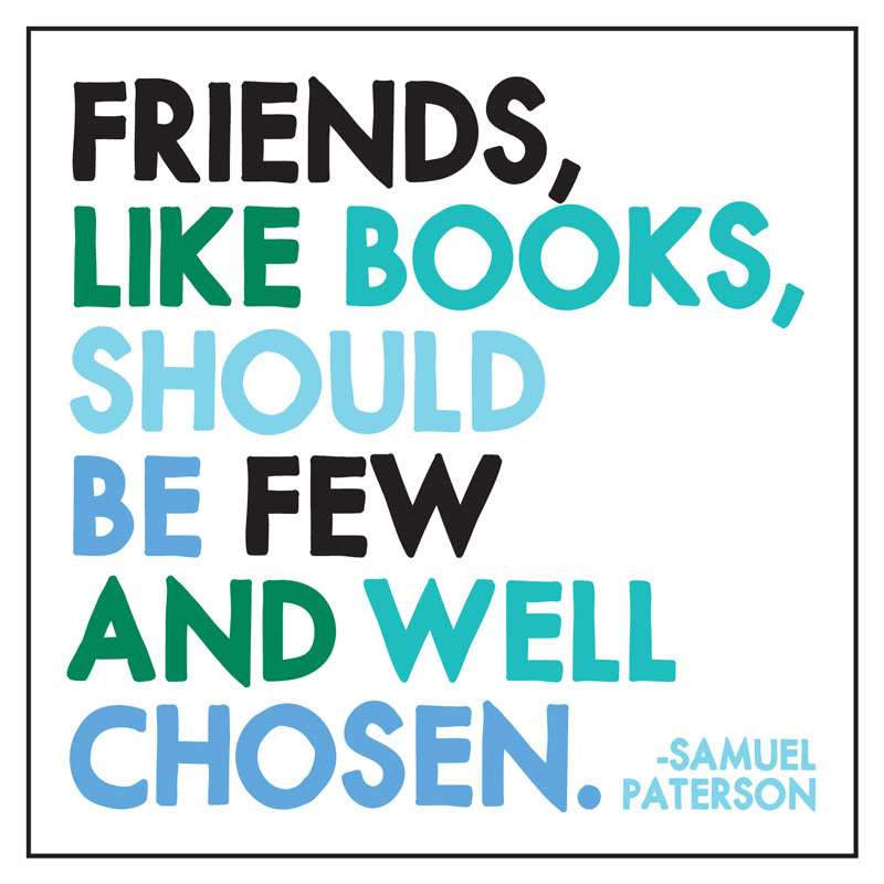 Quotable Friends Like Books Card