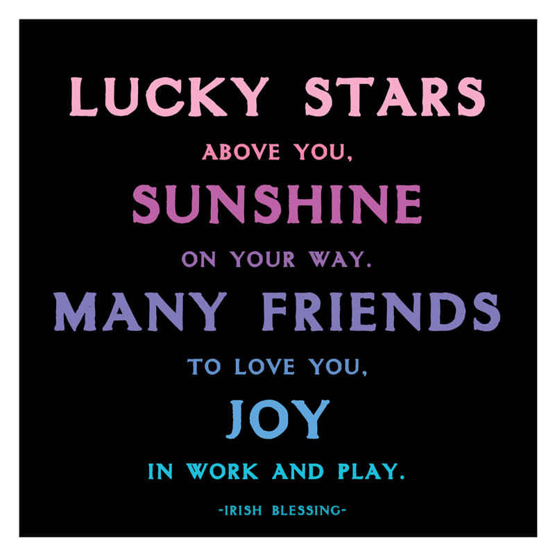 Quotable Lucky Stars Card