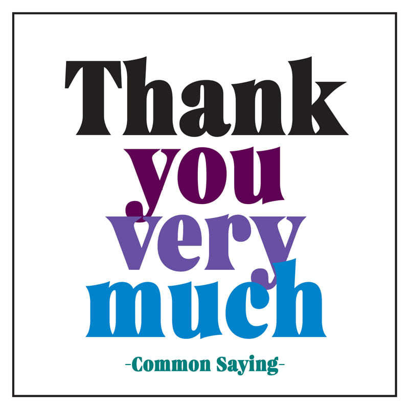 Quotable Thank You Card