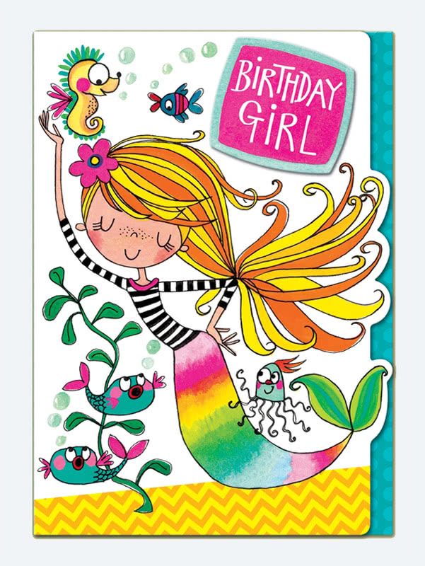 Rachel Ellen Birthday Girl Mermaid Card