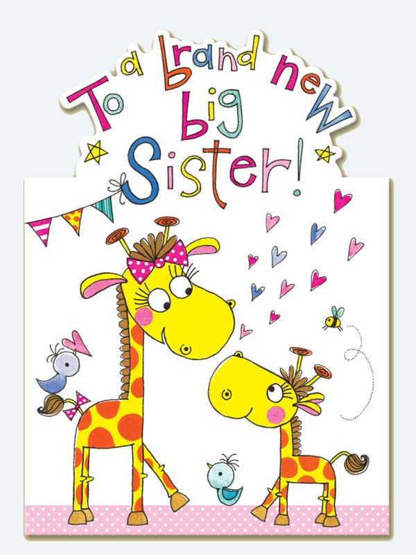 Rachel Ellen New Big Sister Card