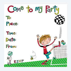 Footballer Party Invitation