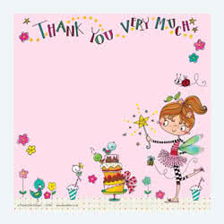 Fairy Cake Thank You Card