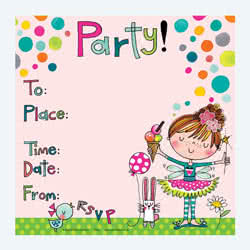 Fairy and Ice Cream Party Invitation