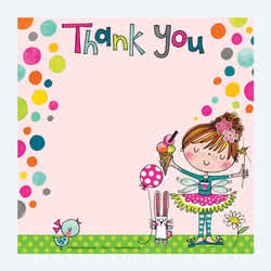 Fairy Ice Cream Thank You Card