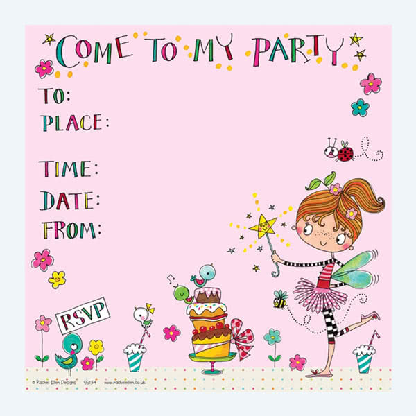 Rachel Ellen Fairy and Cake Invitation