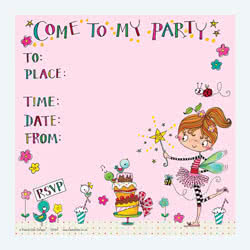 Fairy and Cake Invitation