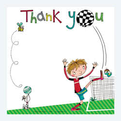 Footballer Thank You Card