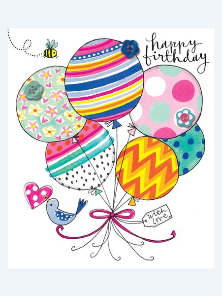Rachel Ellen Balloons Birthday Card