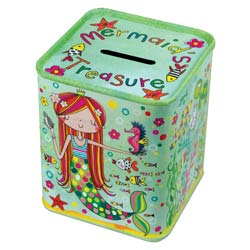 Mermaid Money Box Tin
