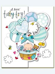 Baby boynewborn birthday cards new baby boy card m4hsunfo