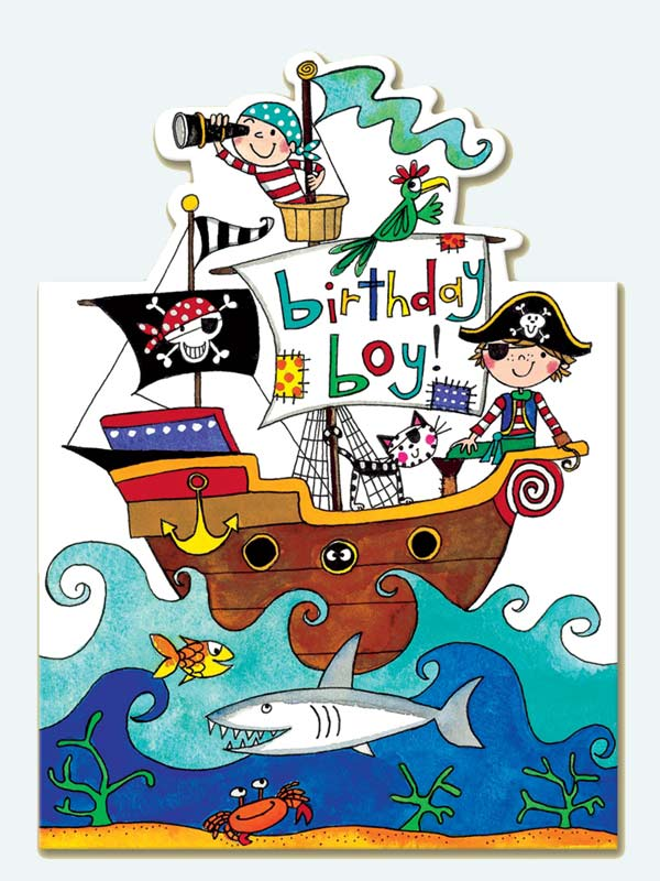 Rachel Ellen Pirate Boat Birthday Card 195