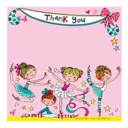 Ballerina Thank You Cards