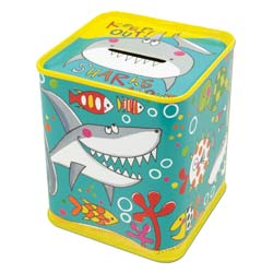 Sharks Money Box Tin