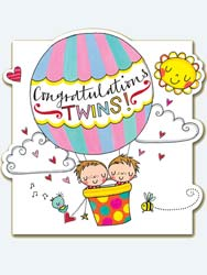 Twins Baby Greeting Card