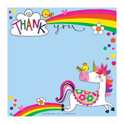 Unicorn Thank You Card