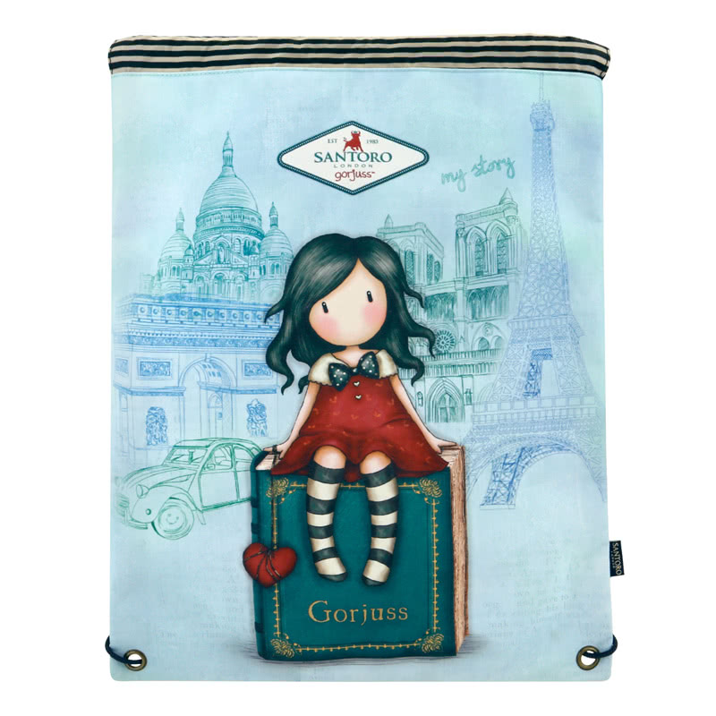 Gorjuss Cityscape My Story Drawstring Bag