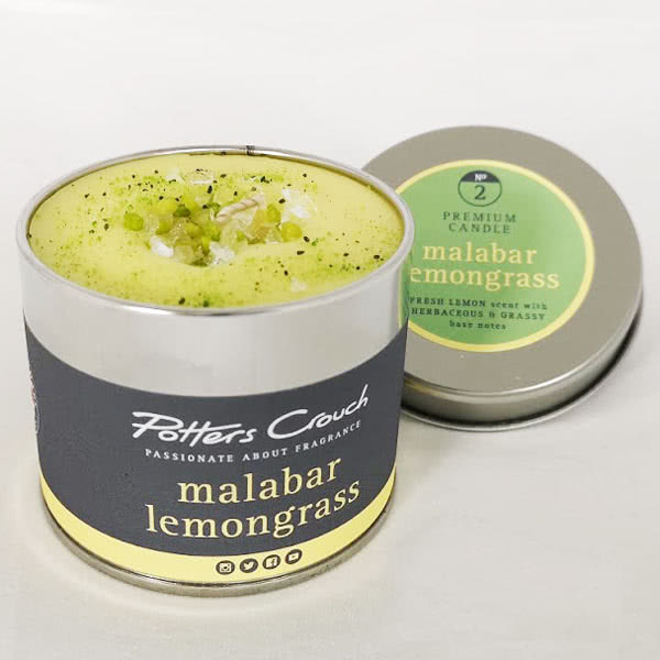 Potters Crouch Malabar Lemongrass Scented Candle