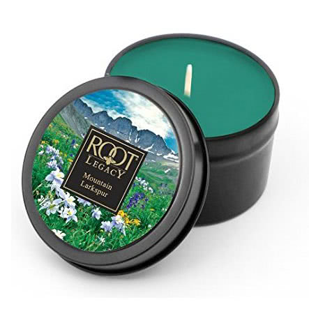 Roots Scented Candle - Mountain Larkspur