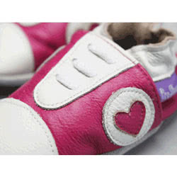 Pink Hearts Leather Shoes