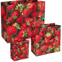 Strawberries Gift Bags