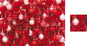 Red Baubles Photowrap Wrapping Paper