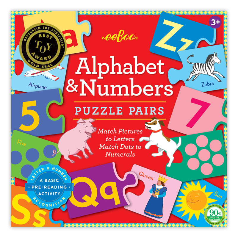 EebooAlphabet Numbers Puzzle Pairs