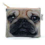 Catseye Pug Face Zip Purse
